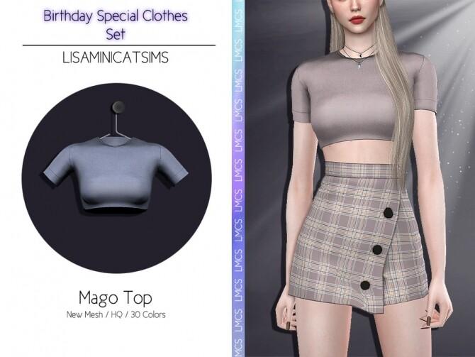 Sims 4 LMCS Mago Top by Lisaminicatsims at TSR