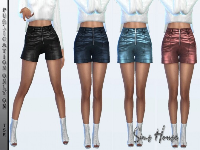 Sims 4 Leather shorts by Sims House at TSR