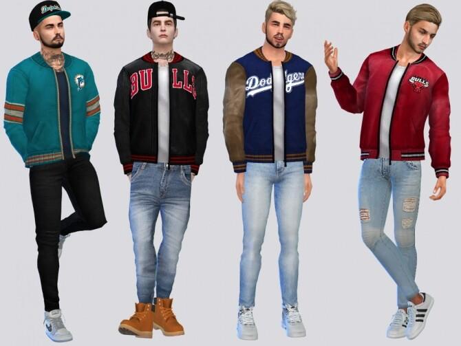 Sims 4 Joe Varsity Jacket by McLayneSims at TSR