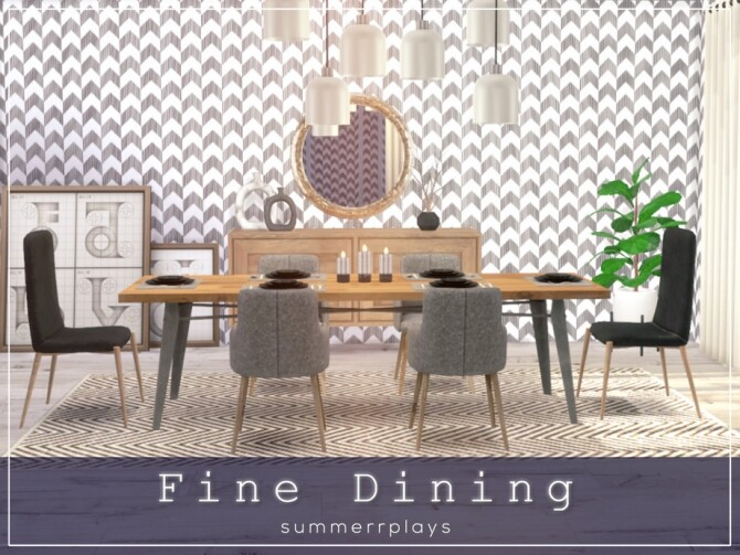 Fine Dining ROOM by Summerr Plays at TSR image 512 670x503 Sims 4 Updates