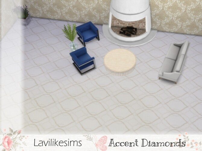 Accent Diamonds Carpet by lavilikesims at TSR image 520 670x503 Sims 4 Updates