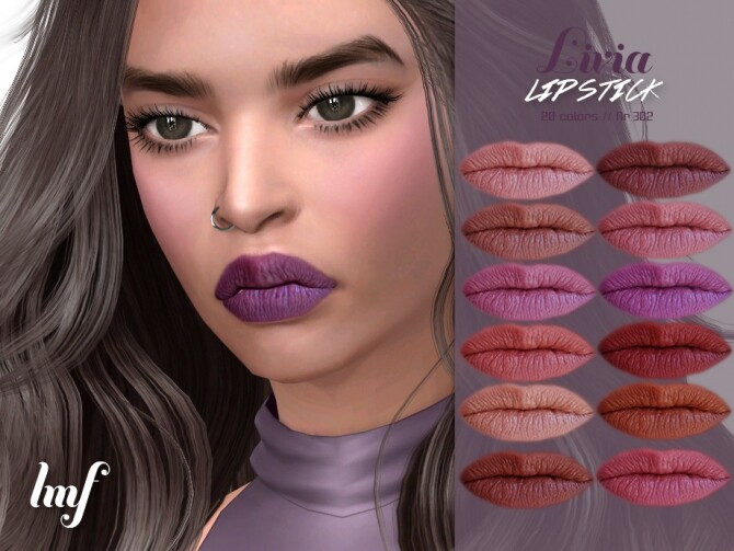 Sims 4 IMF Livia Lipstick N.302 by IzzieMcFire at TSR