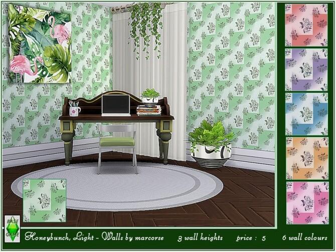 Sims 4 Honeybunch Light Walls by marcorse at TSR