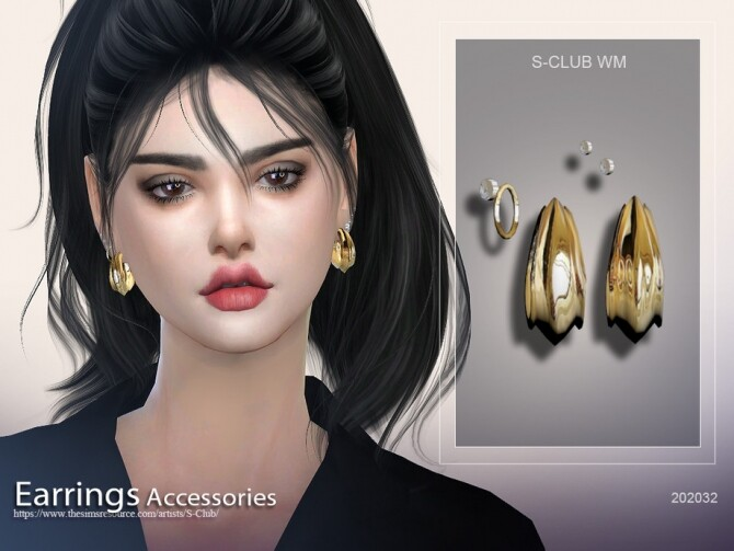 EARRINGS 202032 by S Club WM at TSR image 5311 670x503 Sims 4 Updates