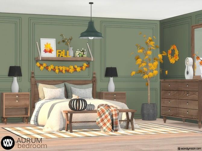 Sims 4 Aurum Bedroom by wondymoon at TSR