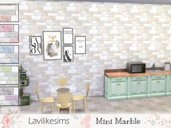 Mini Marble walls by lavilikesims