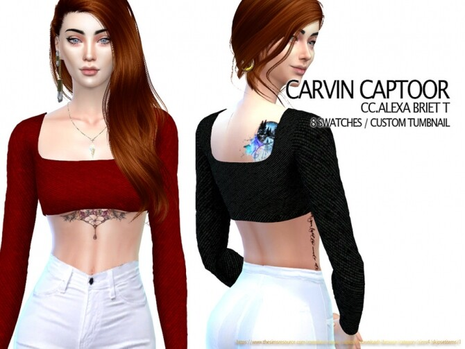 Alexa Briet Top by carvin captoor at TSR image 5411 670x503 Sims 4 Updates
