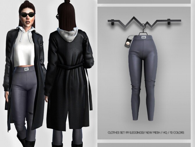Sims 4 Clothes SET 99 LEGGINGS BD370 by busra tr at TSR