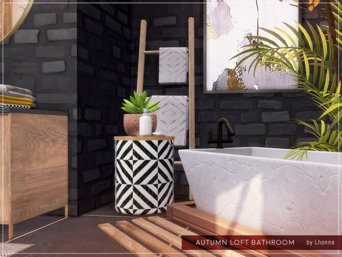 Sims 4 Autumn Loft Bathroom by Lhonna at TSR