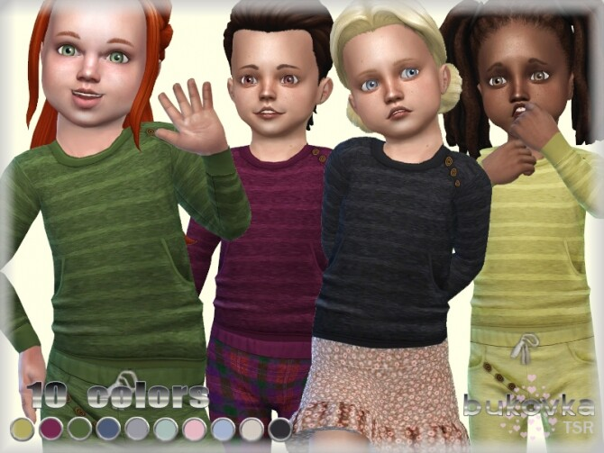 Sims 4 Top Toddler by bukovka at TSR