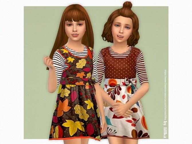 Sims 4 Olivia Dress by lillka at TSR