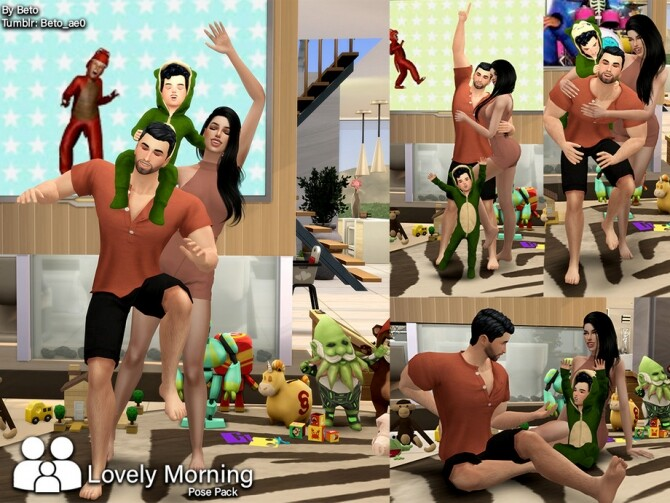 Lovely morning Pose Pack by Beto ae0 at TSR image 566 670x503 Sims 4 Updates