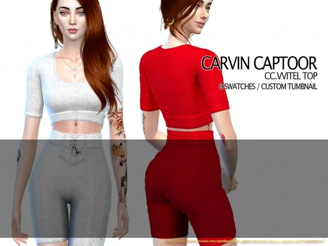 Sims 4 Vvitel Top by carvin captoor at TSR