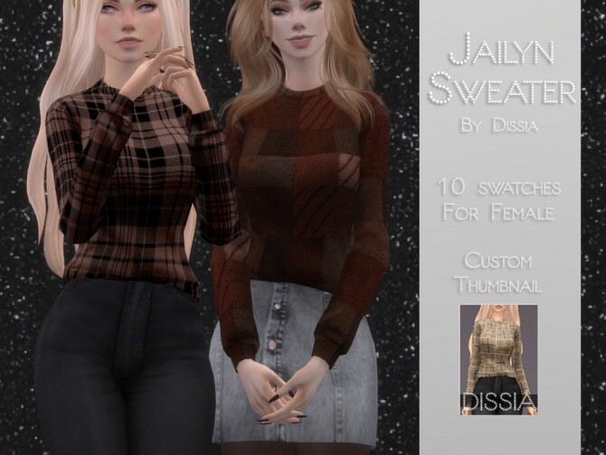 Sims 4 Jailyn Sweater by Dissia at TSR