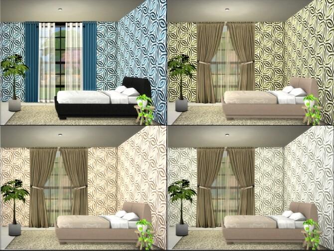 MB Stylish Stucco Paper Flower by matomibotaki at TSR image 580 670x503 Sims 4 Updates