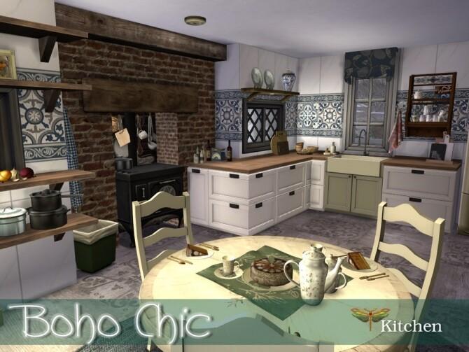 Boho Chic Kitchen by fredbrenny at TSR image 59 670x503 Sims 4 Updates