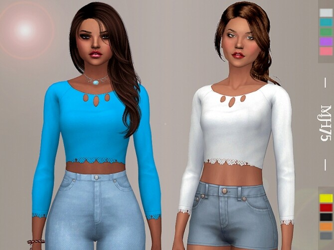 Sims 4 Leena Top by Margeh 75 at TSR