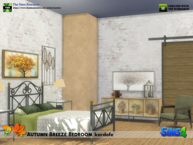 Sims 4 Autumn Breeze Bedroom by kardofe at TSR