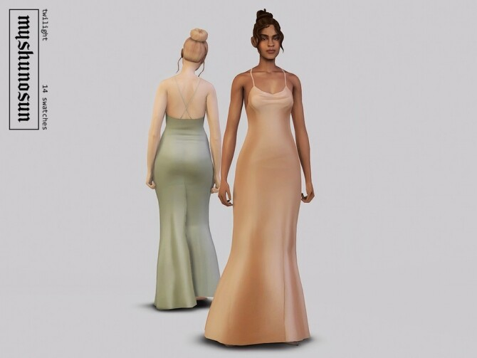 Sims 4 Twilight gown by myshunosun at TSR