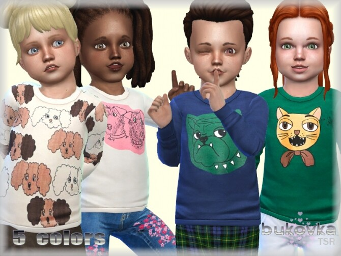 Sims 4 Sweatshirt Pet by bukovka at TSR