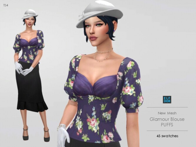 Glamour Blouse Puffs Sleeves
