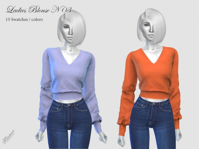 Sims 4 Ladies Blouse N03 by pizazz at TSR