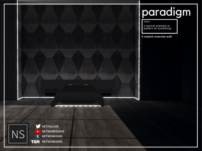 Sims 4 Paradigm Concrete Walls by Networksims at TSR