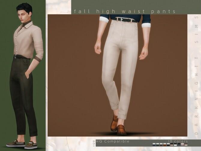 Sims 4 Fall Hight Waist Pants by DarkNighTt at TSR