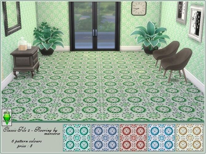 Sims 4 Classic Tile 2 Flooring by marcorse at TSR