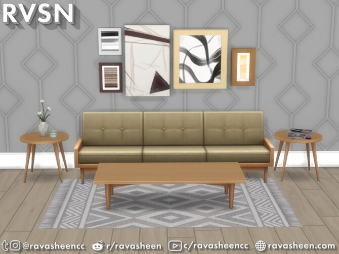 Turned Table Set by RAVASHEEN at TSR image 641 670x503 Sims 4 Updates
