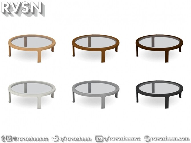 Turned Table Set by RAVASHEEN at TSR image 651 670x503 Sims 4 Updates