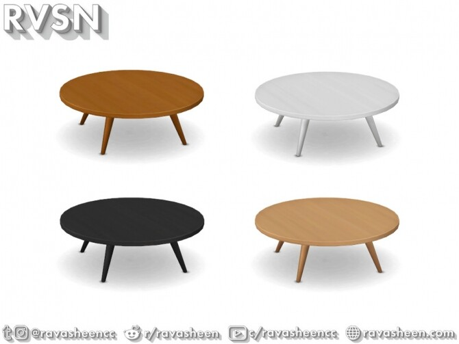 Turned Table Set by RAVASHEEN at TSR image 661 670x503 Sims 4 Updates