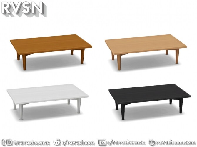 Turned Table Set by RAVASHEEN at TSR image 671 670x503 Sims 4 Updates