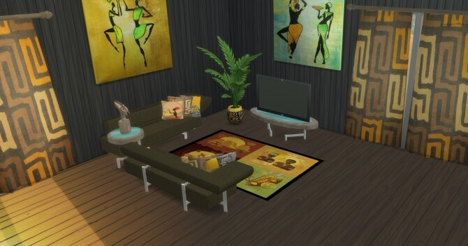 Sims 4 Vendi Living room at LIZZY SIMS