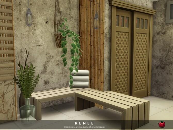 Sims 4 Renee bathroom by melapples at TSR