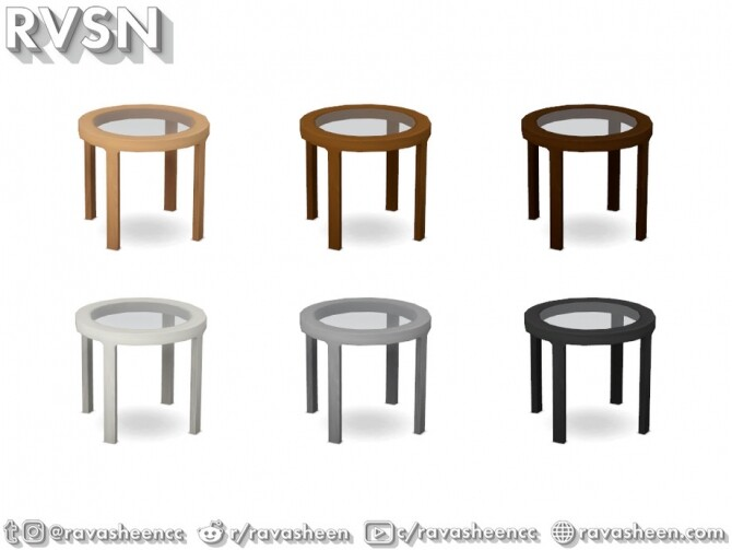 Turned Table Set by RAVASHEEN at TSR image 681 670x503 Sims 4 Updates