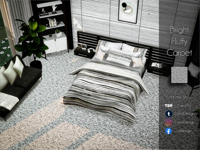 Bright Fluffy Carpet by Caroll91 at TSR image 690 670x503 Sims 4 Updates
