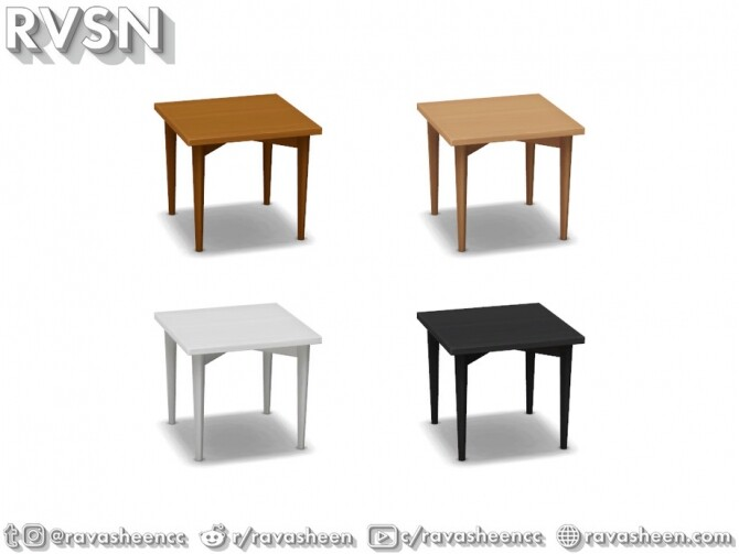 Turned Table Set by RAVASHEEN at TSR image 691 670x503 Sims 4 Updates