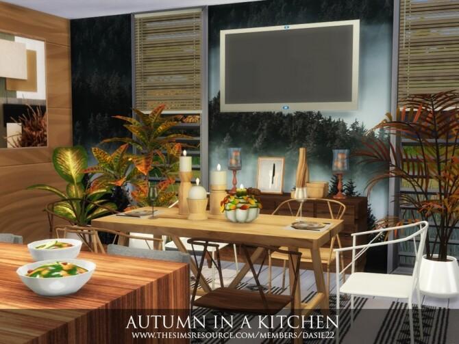 Sims 4 AUTUMN IN A KITCHEN by dasie2 at TSR