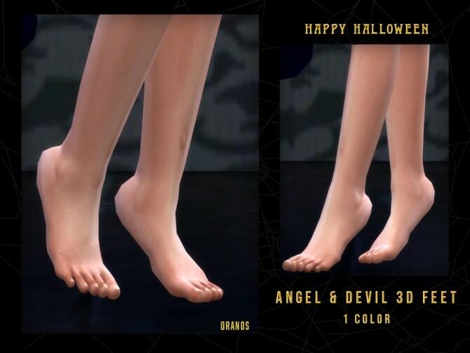 Sims 4 Angel & Devil 3D Feet by OranosTR at TSR