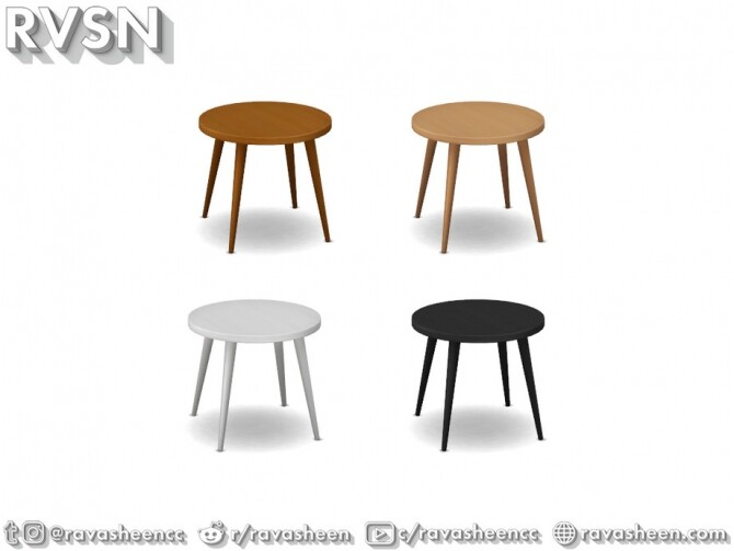 Turned Table Set by RAVASHEEN at TSR image 701 670x503 Sims 4 Updates