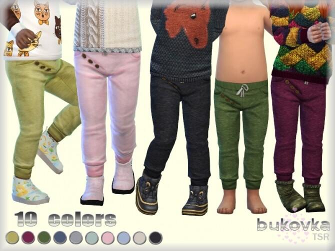 Sims 4 Knitted Pants by bukovka at TSR