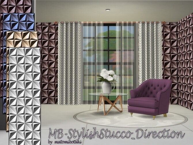 MB Stylish Stucco Direction by matomibotaki at TSR image 709 670x503 Sims 4 Updates