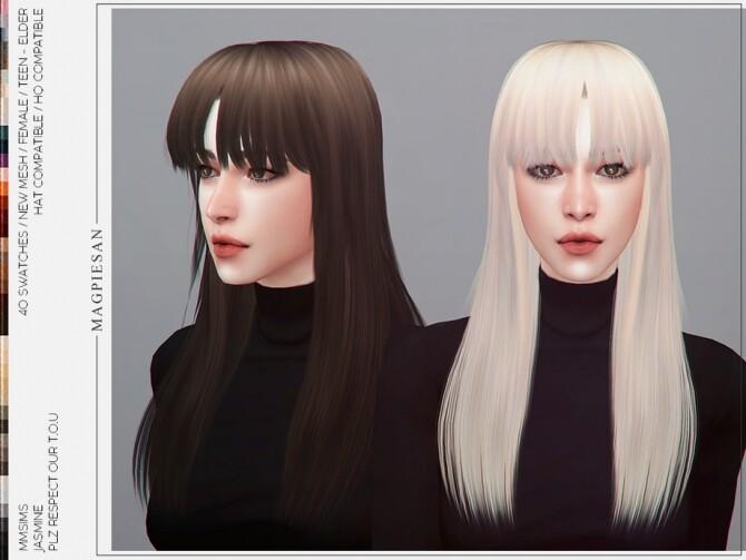 Sims 4 Jasmine Hair by magpiesan at TSR