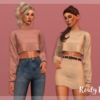 Crop Sweater TP367 by laupipi
