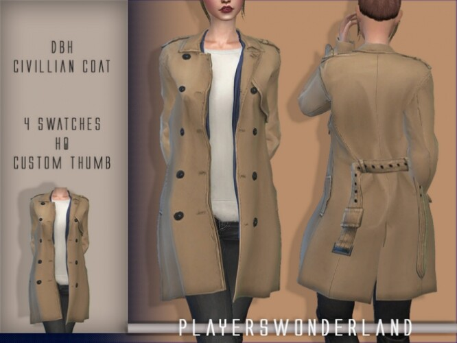 DBH Civilian Coat by PlayersWonderland