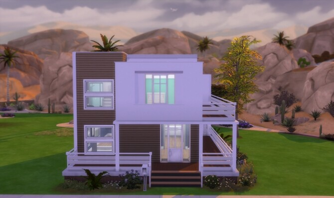 Sims 4 Modern House for 3 by RubyGamer at Mod The Sims