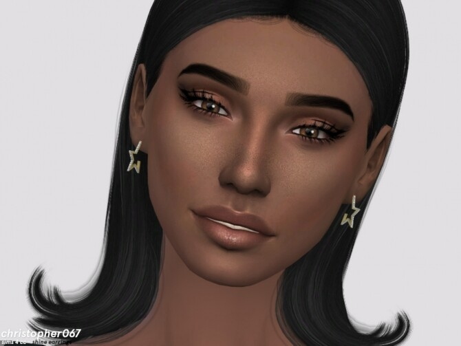 Sims 4 Shine Earrings by Christopher067 at TSR