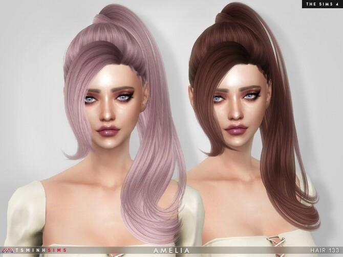 Amelia Hair 133 by TsminhSims