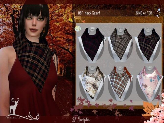 Sims 4 DSF NECK SCARF by DanSimsFantasy at TSR